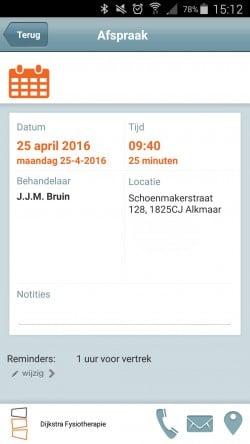 AfsprakenApp_Afspraak Details